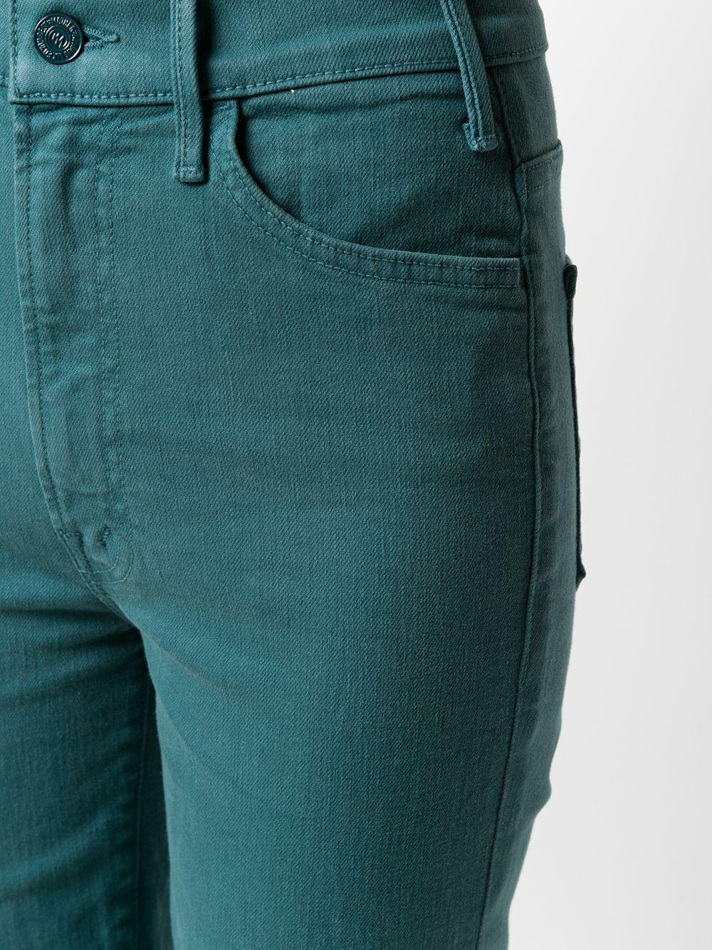Mother | MOTHER укороченные расклешенные джинсы | Clouty