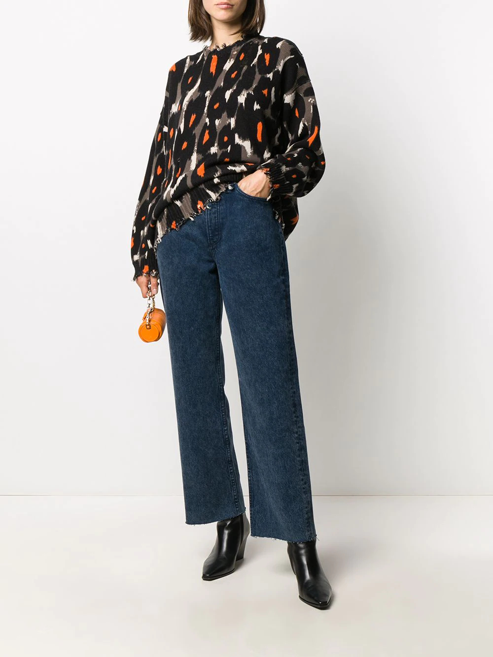 RAG & BONE | Rag & Bone прямые джинсы Ruth с завышенной талией | Clouty