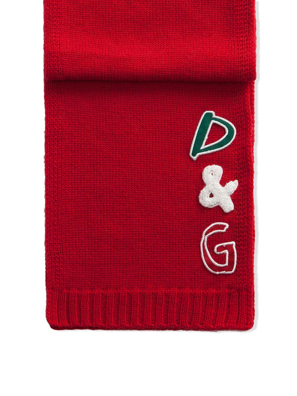 Dolce & Gabbana Junior   Dolce & Gabbana Kids шарф с нашивкой-логотипом   Clouty
