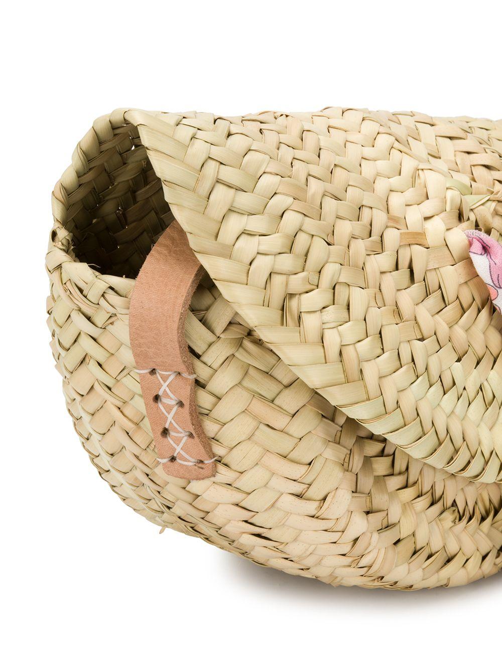 Chloé Kids | Chloe Kids плетеная сумка-корзина на плечо | Clouty