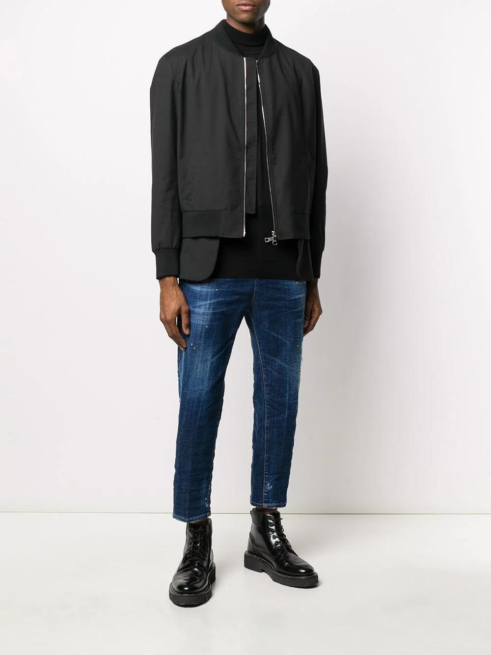 DSQUARED2 | Dsquared2 укороченные джинсы с эффектом потертости | Clouty