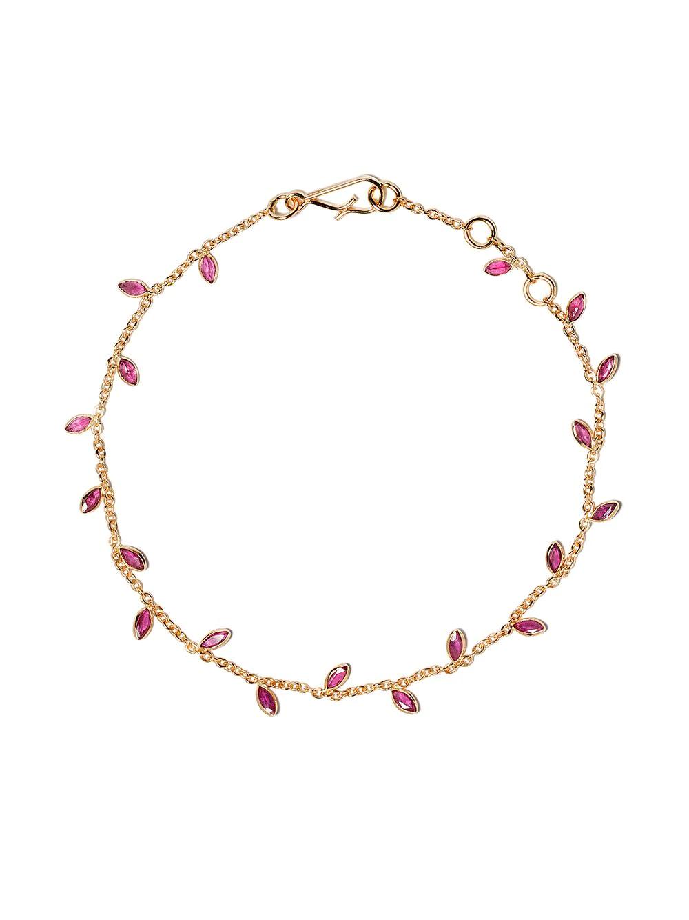 Annoushka | Annoushka золотой браслет Vine Leaf с рубинами | Clouty