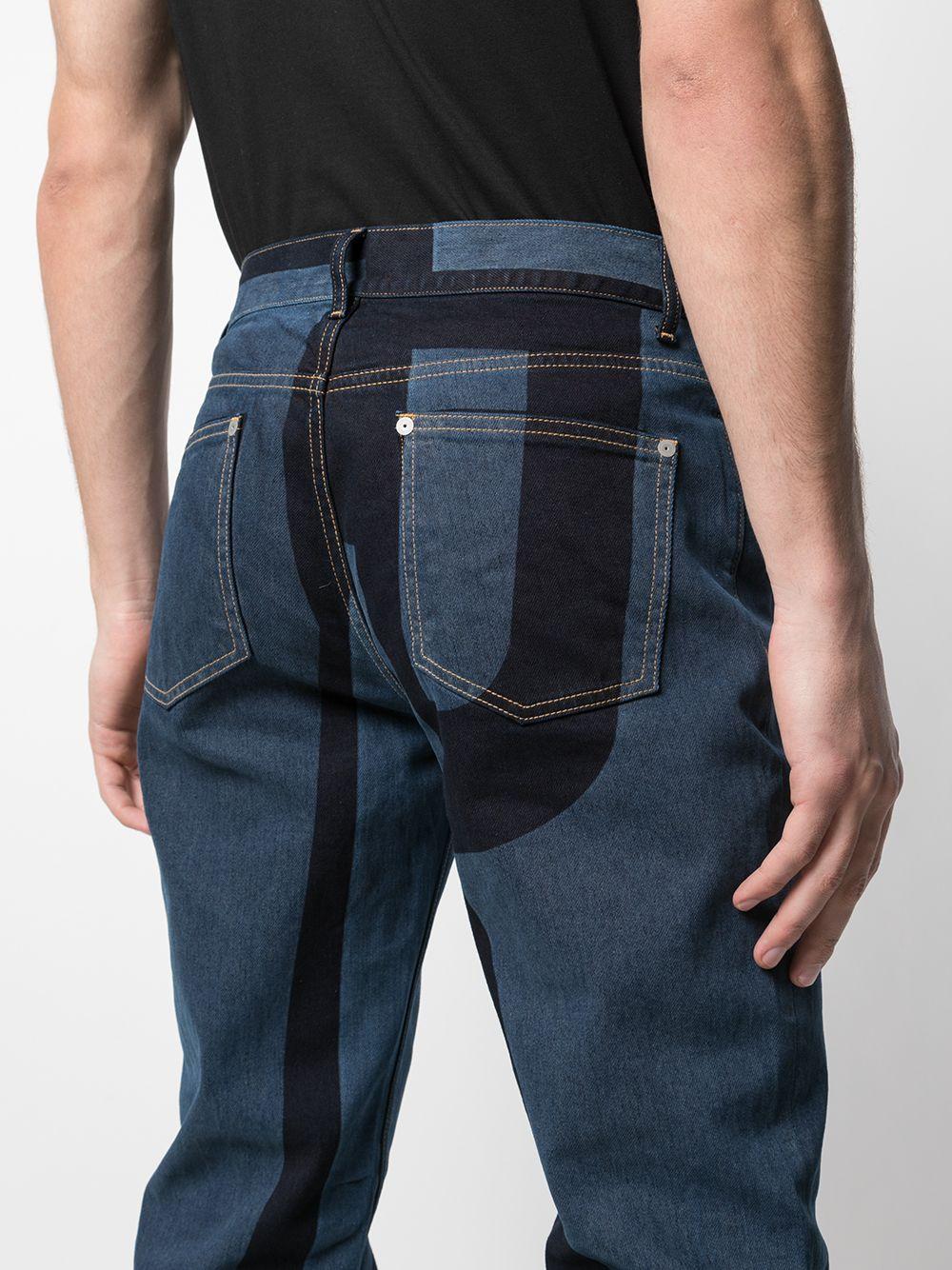 Maison Margiela | Maison Margiela джинсы кроя слим со вставками | Clouty