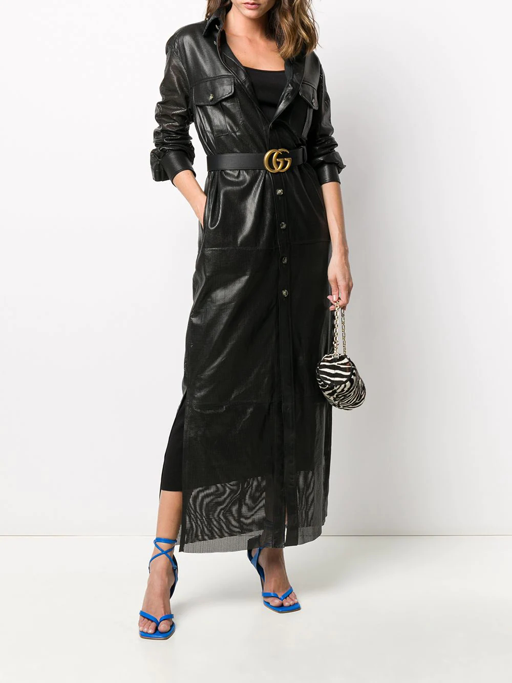 Simonetta Ravizza | Simonetta Ravizza платье-рубашка с перфорацией | Clouty