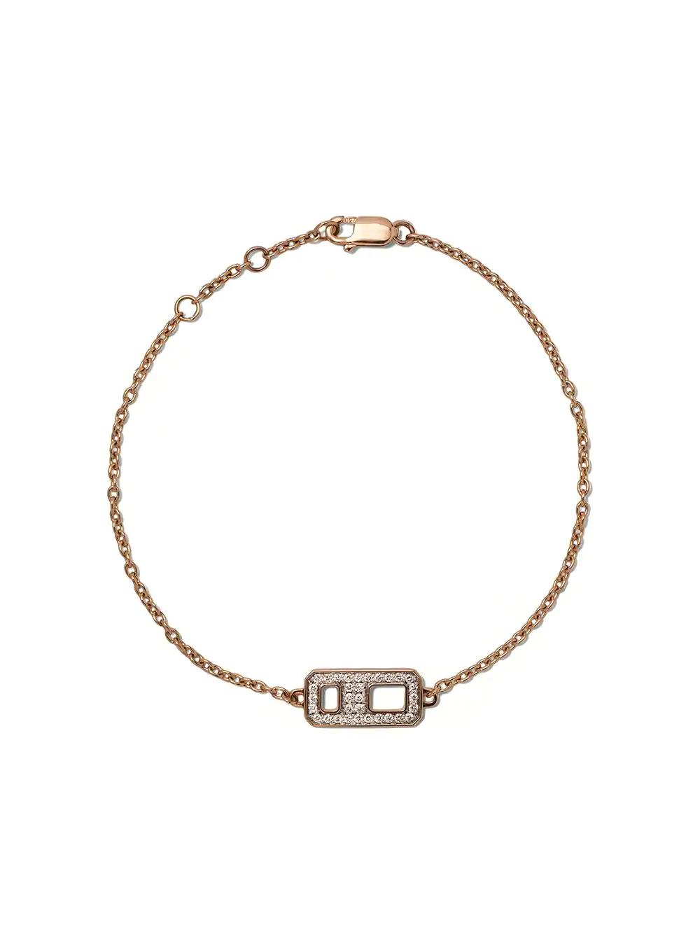 AS29 | AS29 браслет DNA из розового золота с бриллиантами | Clouty