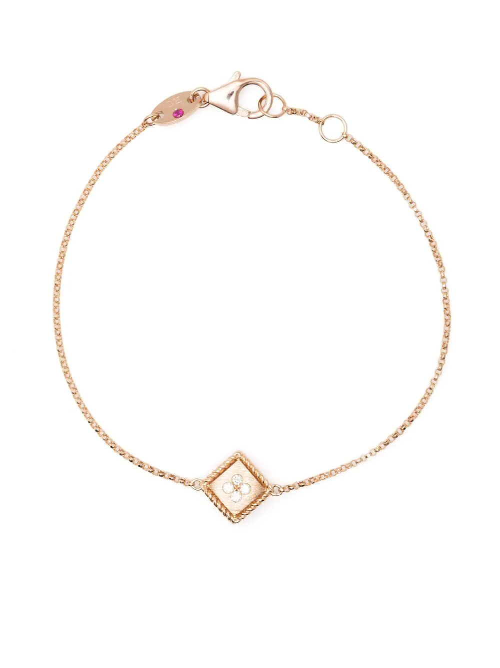 Roberto Coin   Roberto Coin браслет Ducale из розового золота с бриллиантами   Clouty