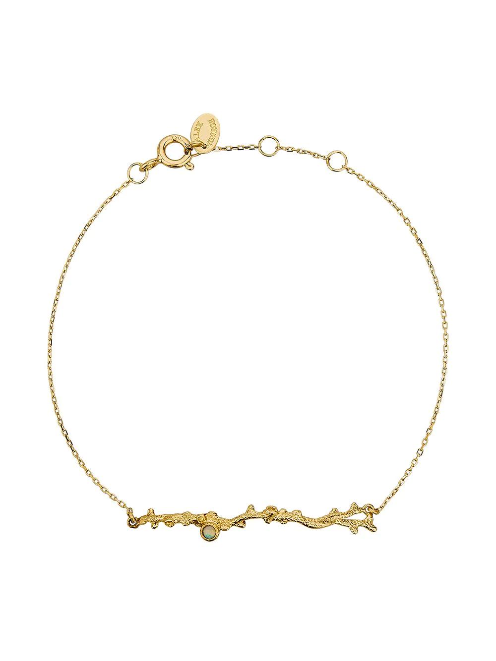Alex Monroe | Alex Monroe браслет Coral Opal Branch из желтого золота | Clouty