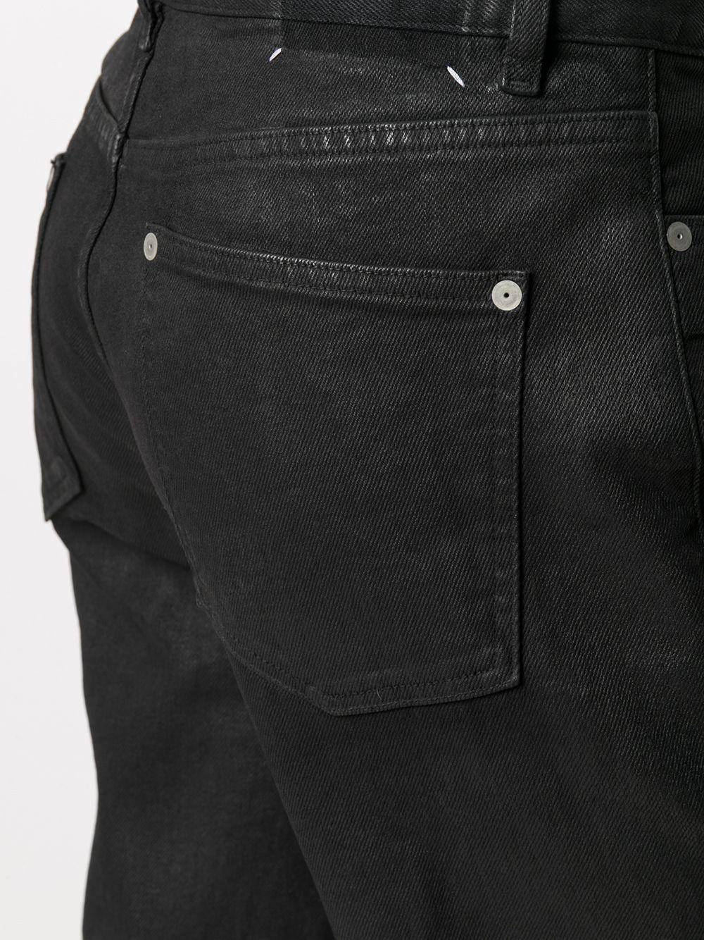 Maison Margiela | Maison Margiela прямые джинсы с контрастной строчкой | Clouty