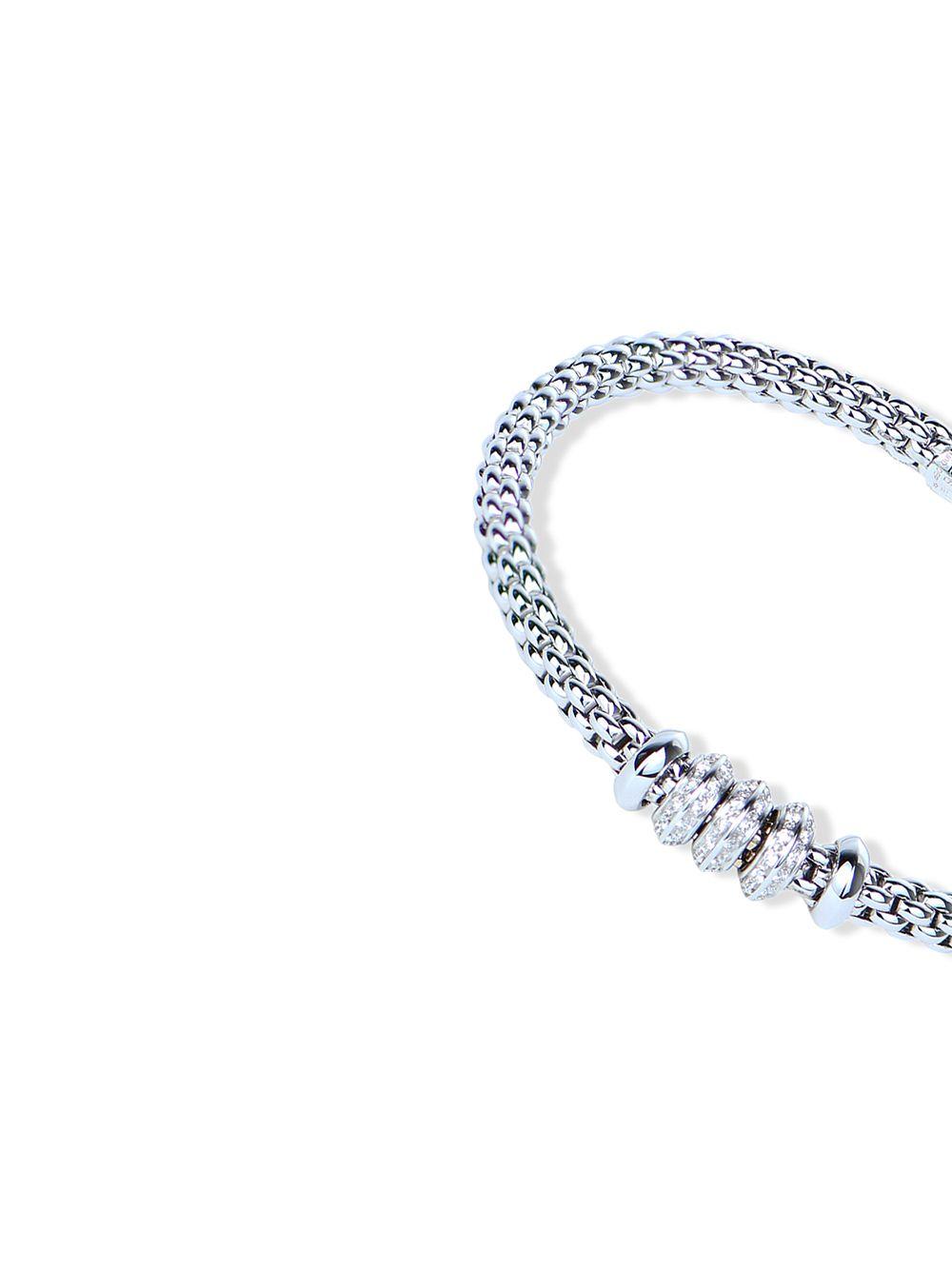 FOPE | FOPE браслет Solo из белого золота с бриллиантами | Clouty