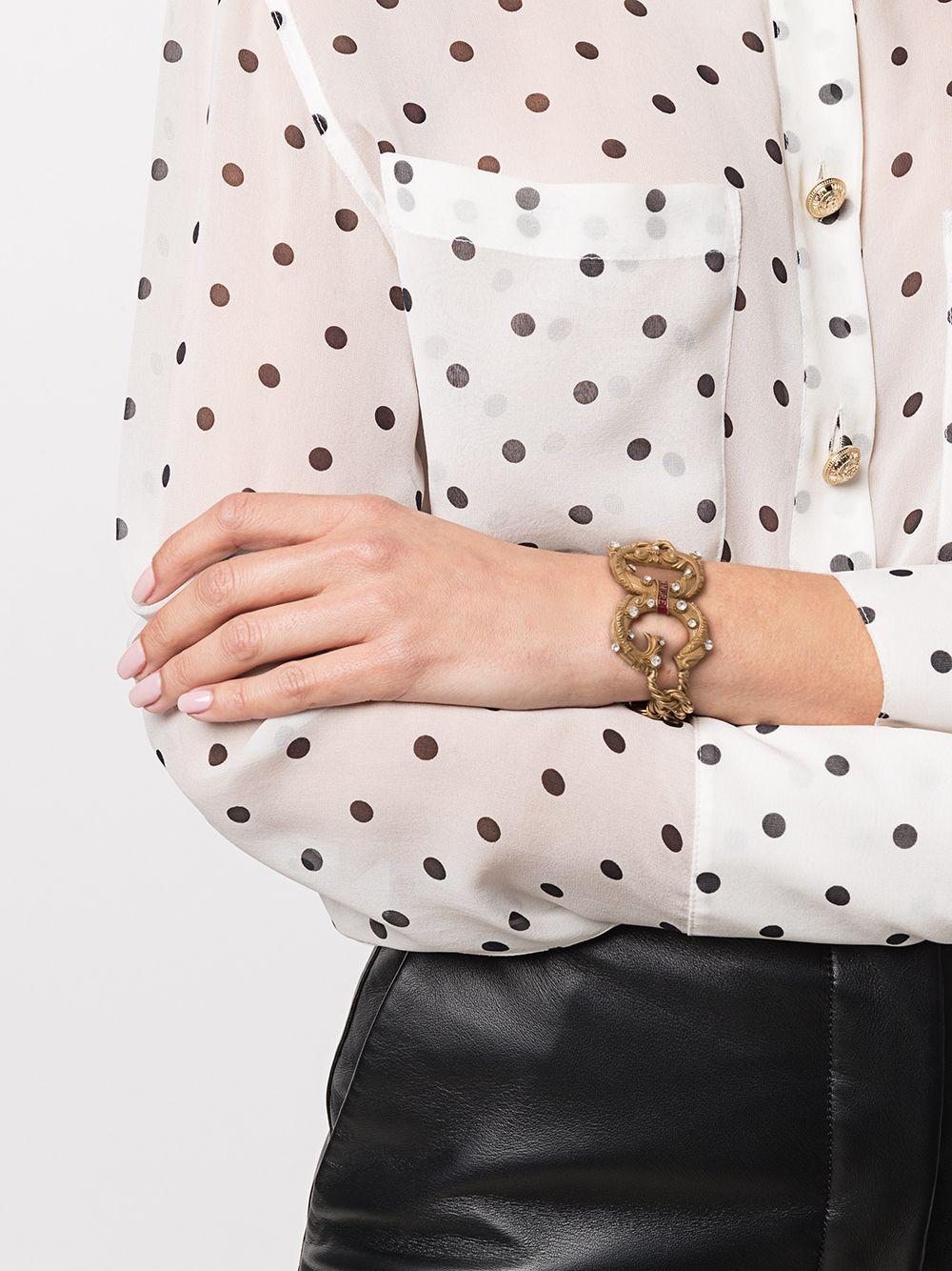 Dolce & Gabbana | Dolce & Gabbana цепочный браслет с логотипом | Clouty