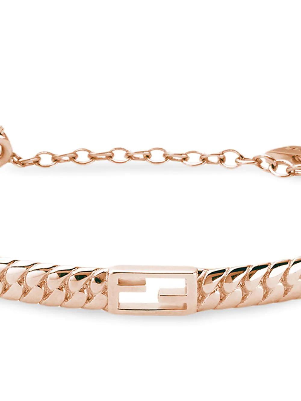 FENDI | Fendi цепочный браслет Baguette с логотипом | Clouty