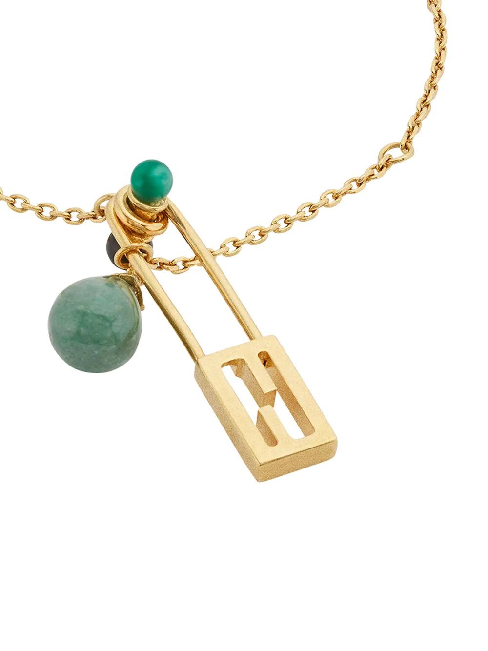 FENDI | Fendi цепочный браслет с подвеской в виде булавки | Clouty