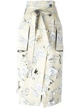 Фото юбка с цветочным принтом  Maison Margiela