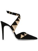 Фото декорированные туфли на шпильках René Caovilla