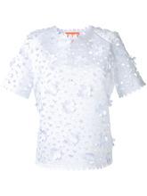 Фото блузка с цветочным украшением  Paskal