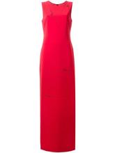 Фото вечернее платье с принтом выкройки Moschino