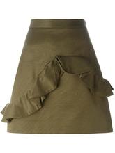 Фото мини-юбка с рюшами MSGM