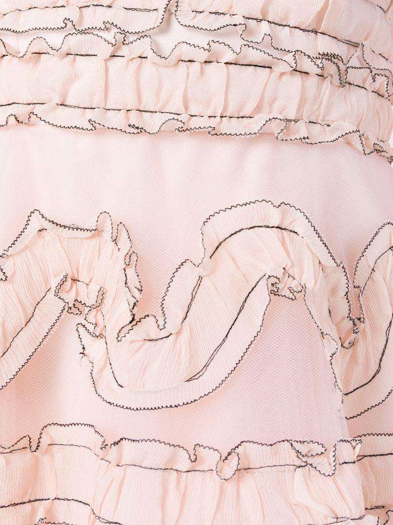 Sachin And Babi   Розовый и фиолетовый расклешенное платье без бретелей Sachin And Babi   Clouty