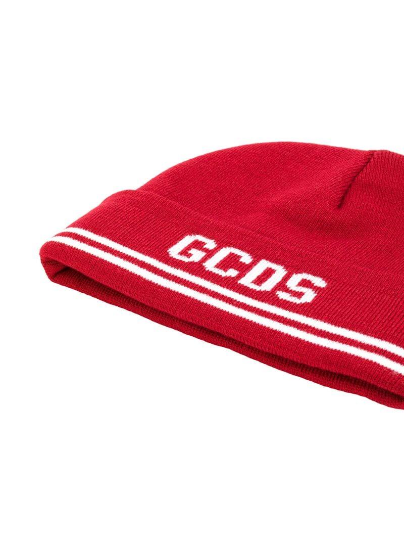 GCDS   Красный шапка с логотипом Gcds   Clouty