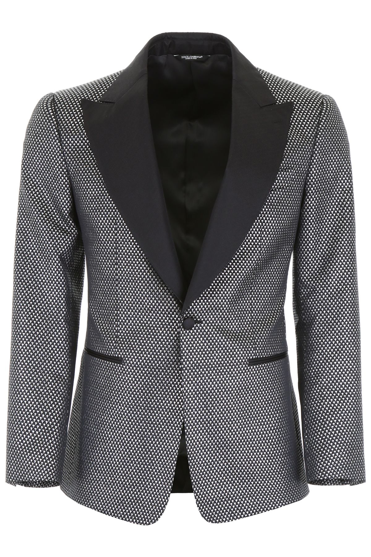 Dolce & Gabbana | Dolce & Gabbana Jacquard Tuxedo Jacket | Clouty