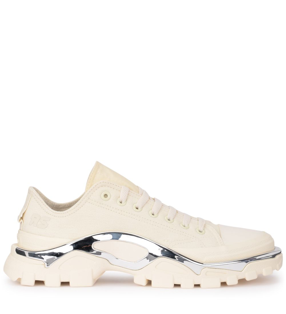 Raf Simons | Adidas By Raf Simons Detroit Runner Ivory Canvas Sneaker | Clouty