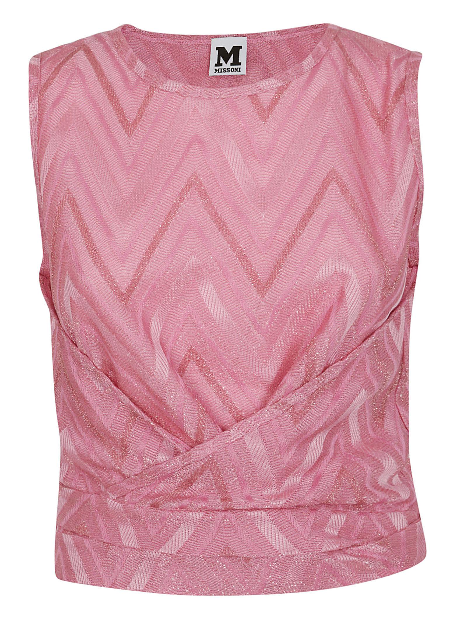 M Missoni | M Missoni Chevron Ruched Top | Clouty