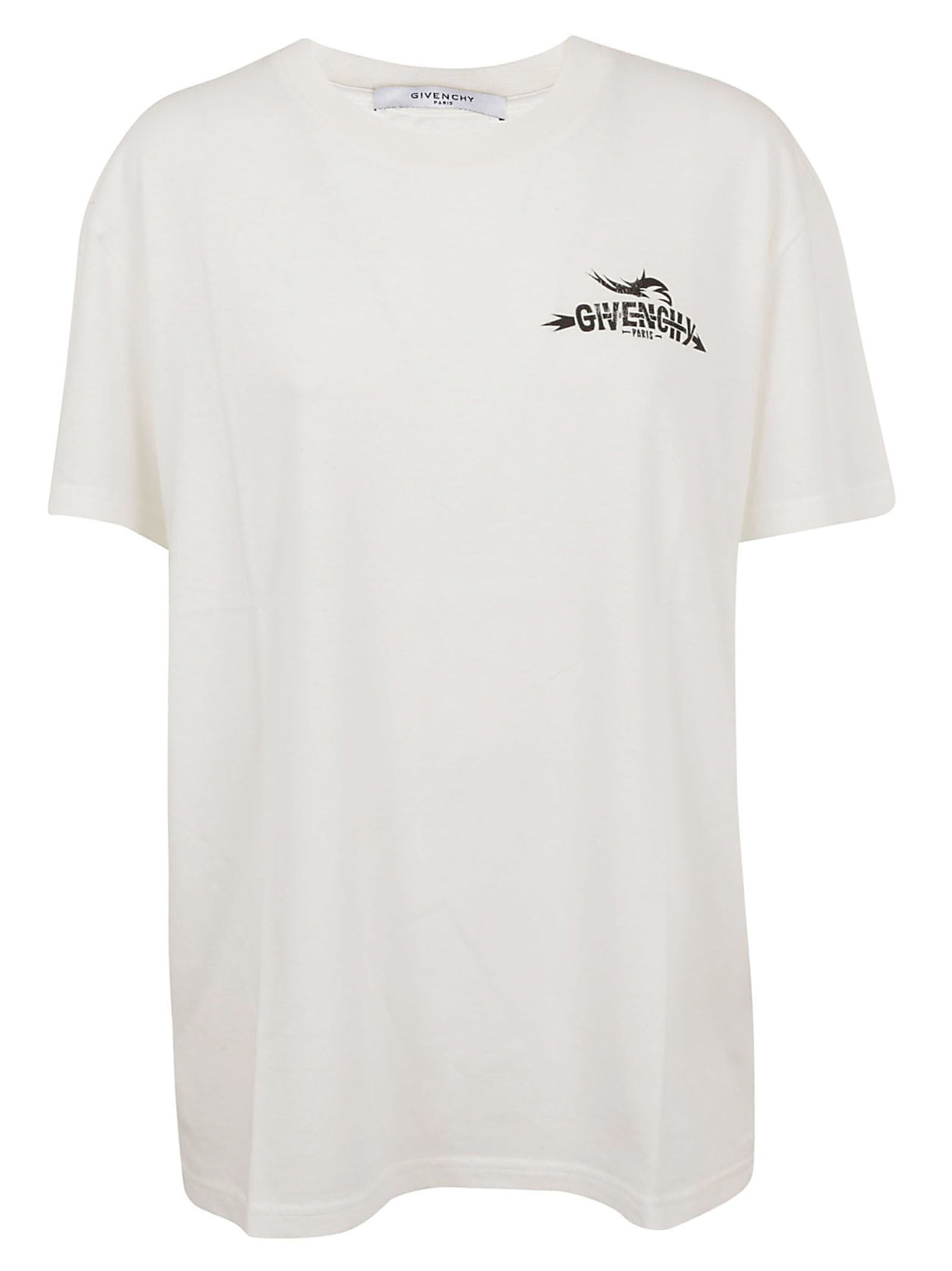 GIVENCHY   Givenchy Logo Printed T-shirt   Clouty