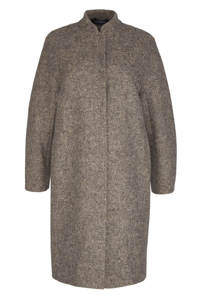Freshblood   коричневый Пальто из шерсти и альпаки   Clouty