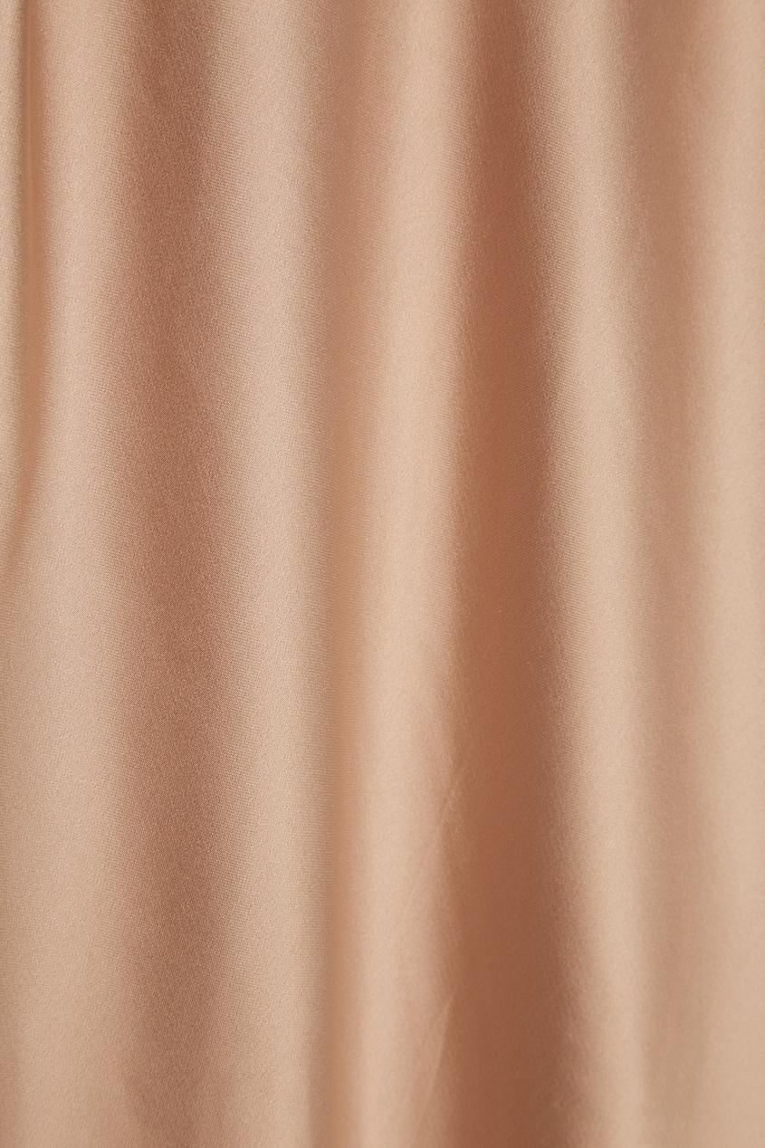 Alexander Terekhov | Атласное платье с асимметричным низом | Clouty
