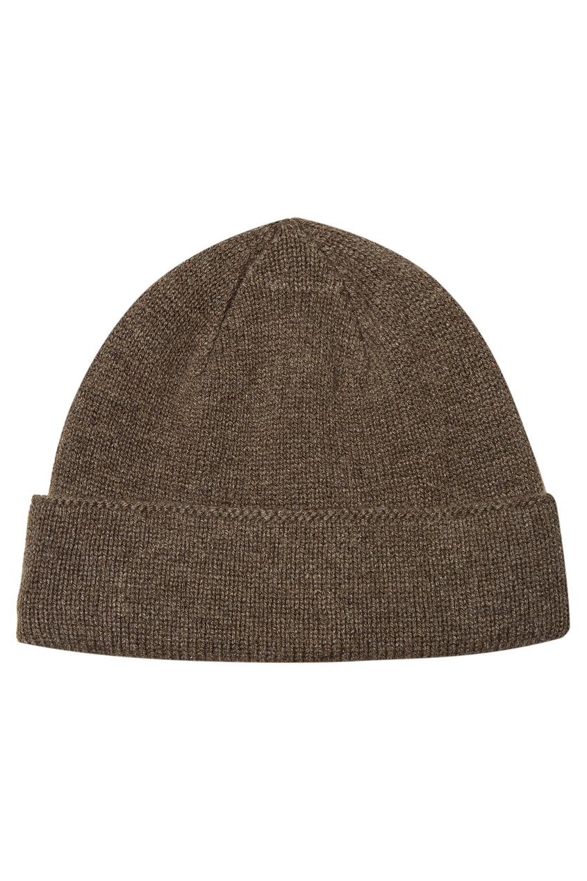 Canali | бежевый Коричневая кашемировая шапка | Clouty