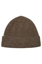 Фото Коричневая кашемировая шапка