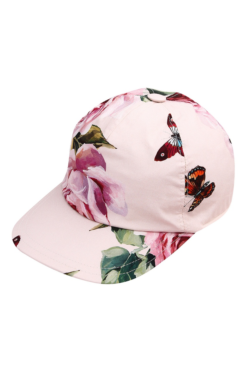 Dolce & Gabbana | розовый Кепка с цветочным принтом | Clouty