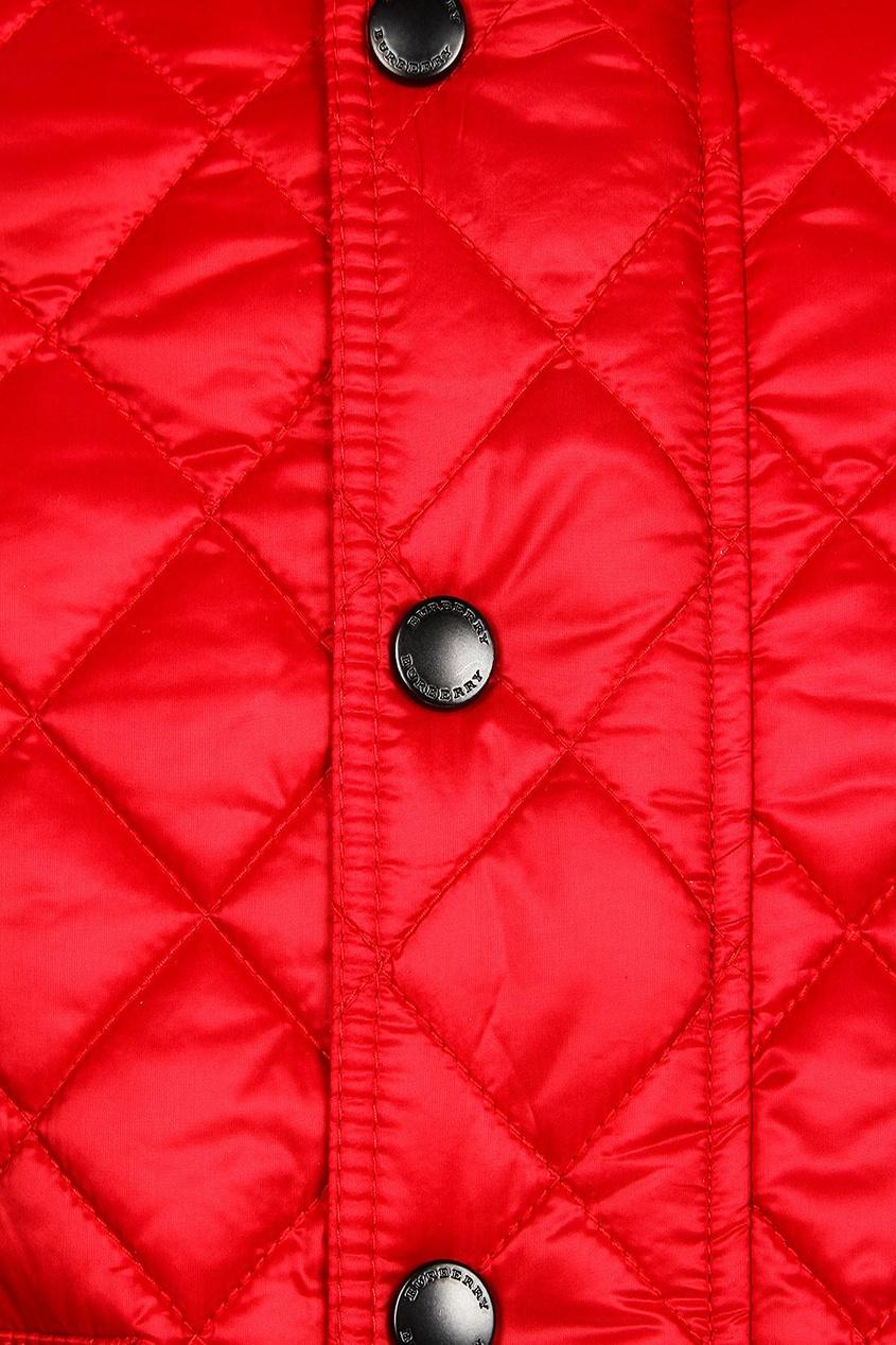 ... Burberry Kids   красный Красная стеганая куртка   Clouty dd551525197
