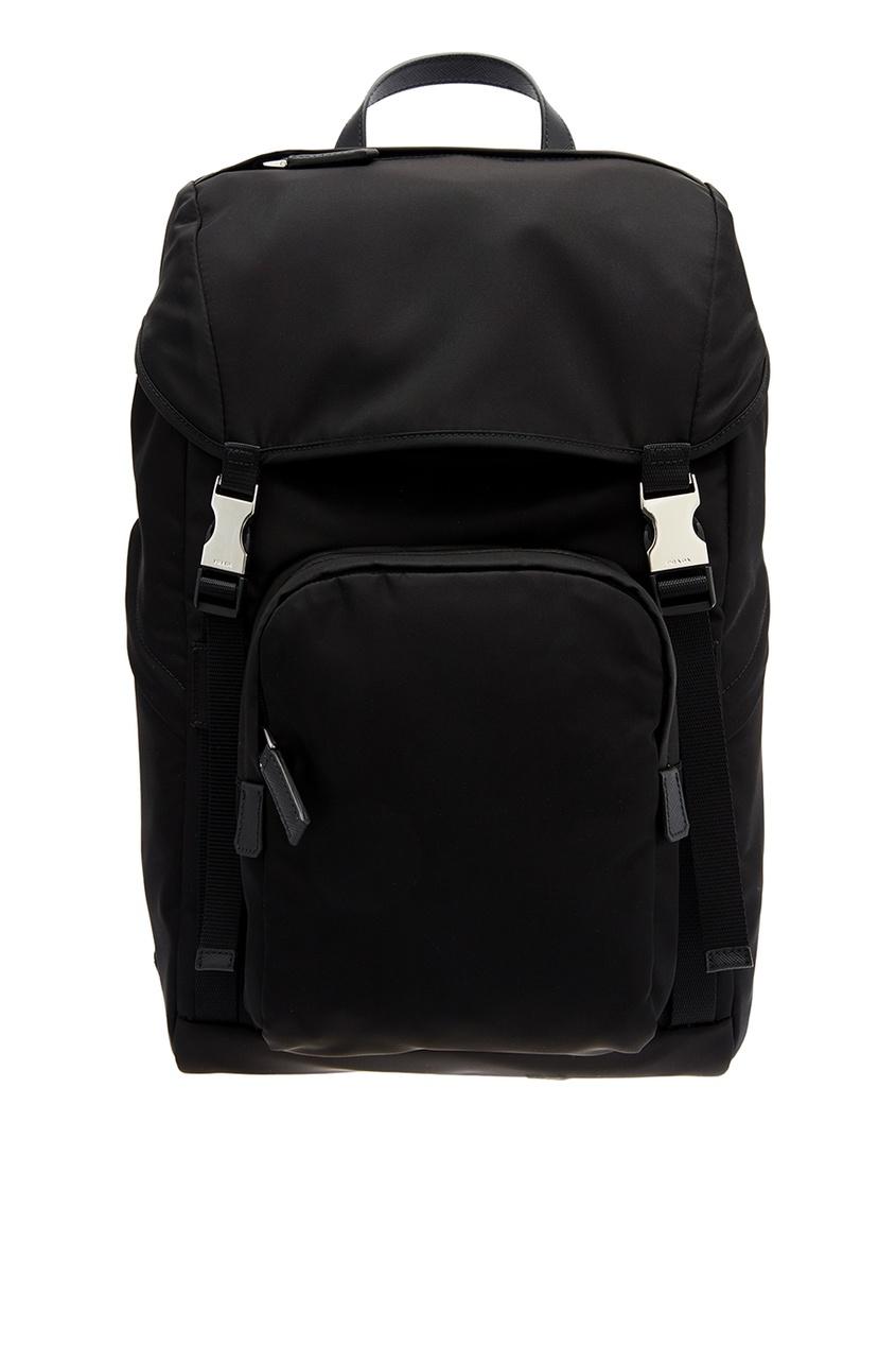 PRADA | Черный рюкзак с пряжками | Clouty