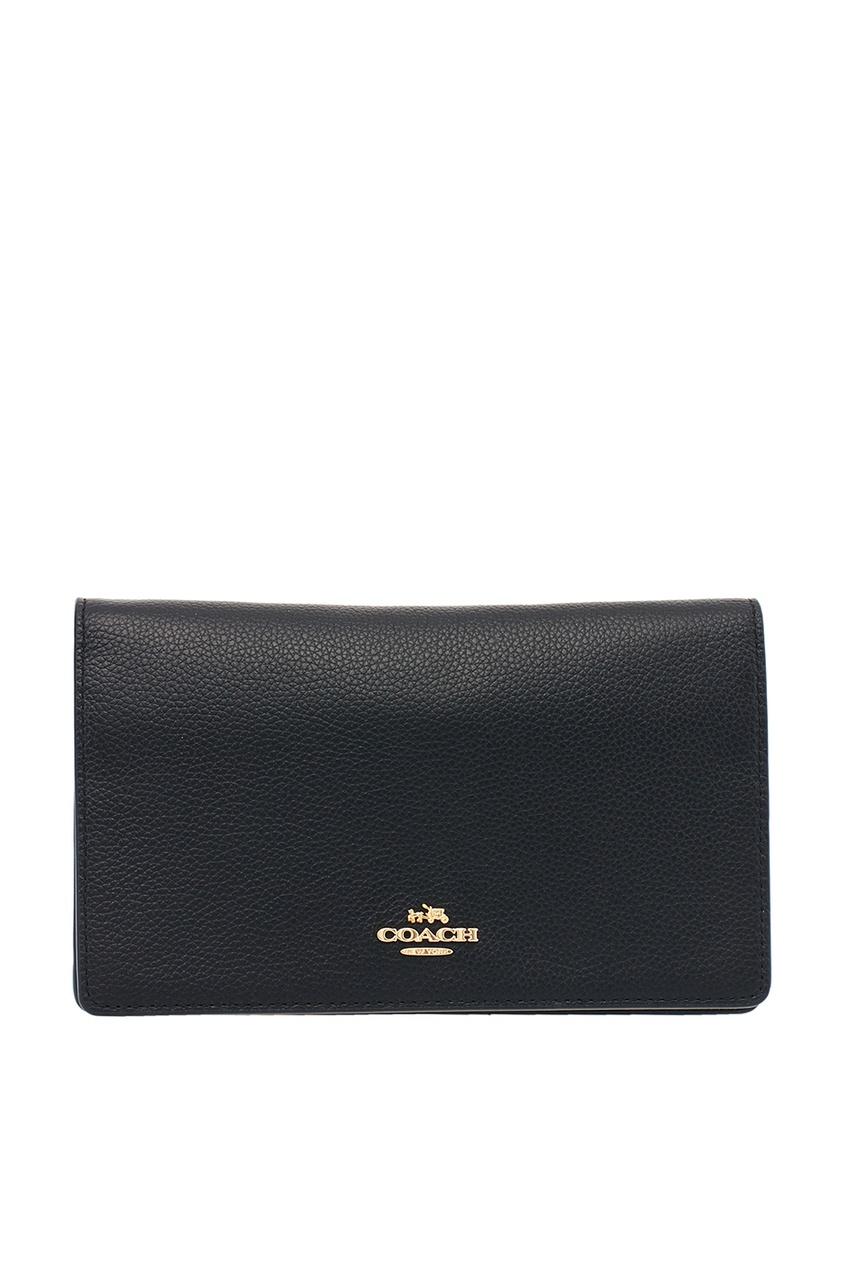 COACH | черный Черная сумка с логотипом Foldover | Clouty