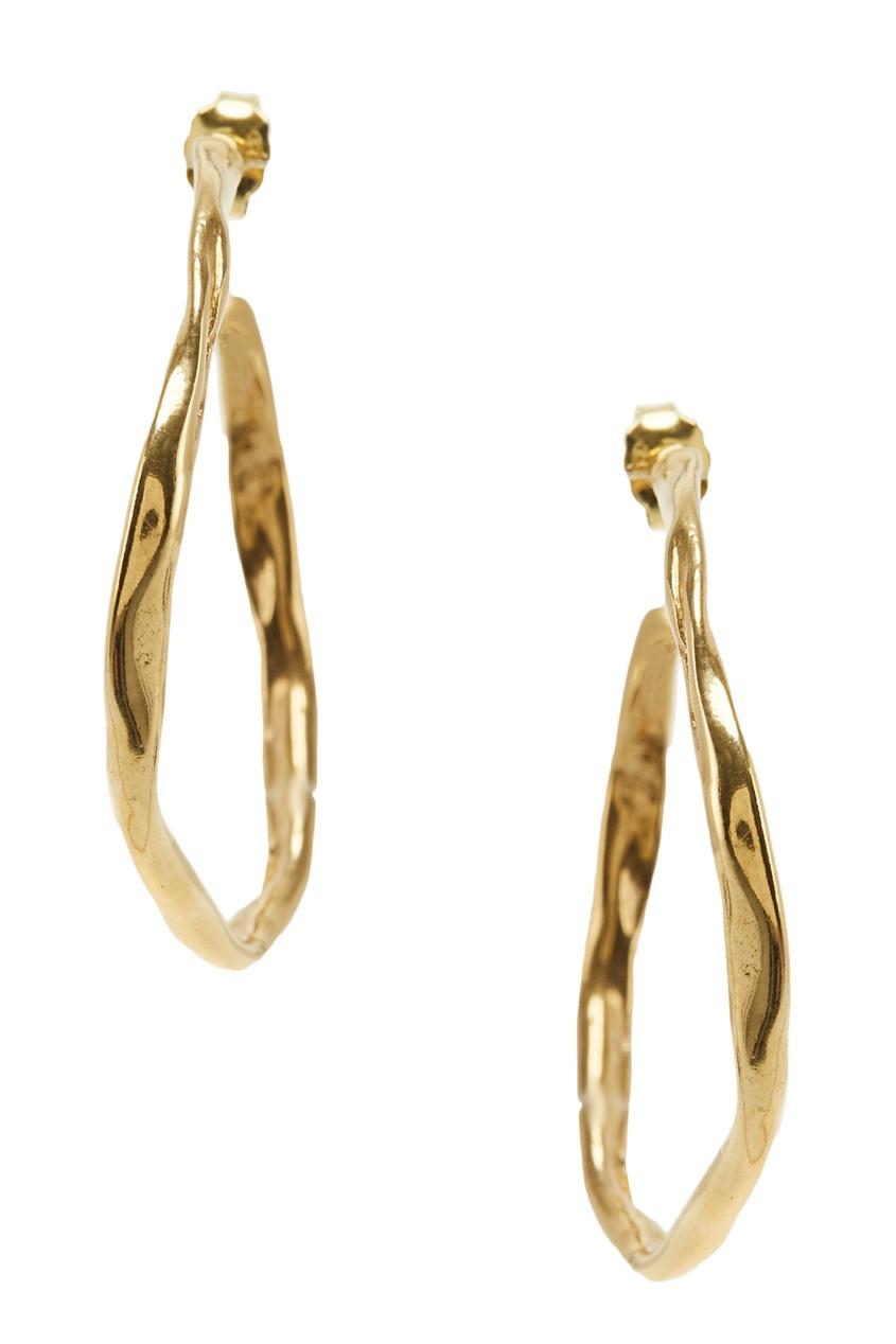 Ringstone | Золотой Позолоченные серьги-кольца | Clouty