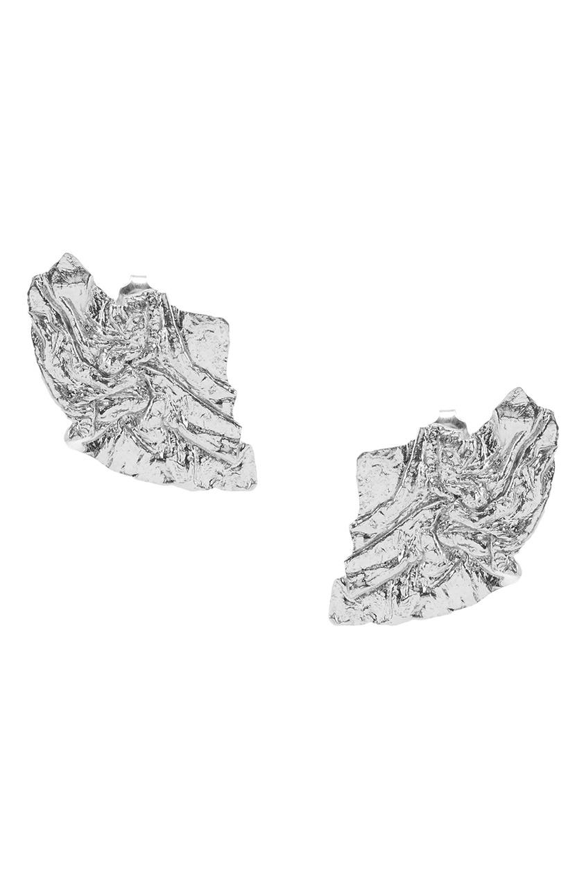 ringstone | Серебряный Серебряные серьги-гвоздики | Clouty