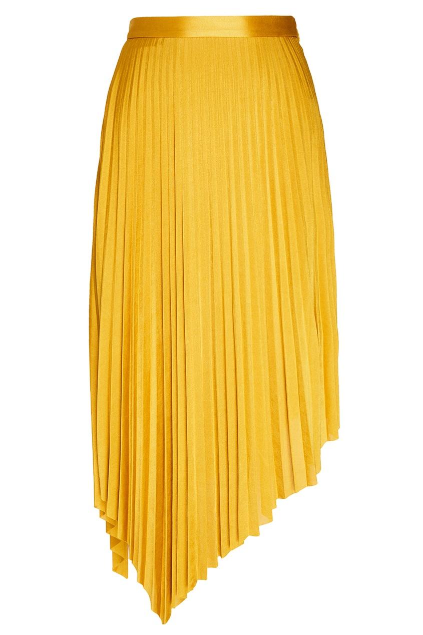 MO&CO | желтый Желтая плиссированная юбка | Clouty