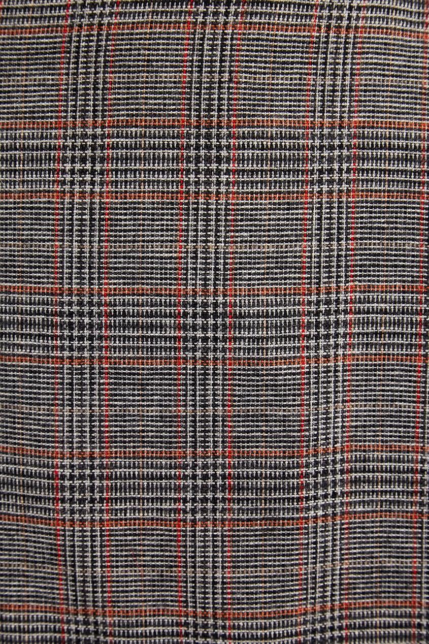 Laroom | серый Серая юбка-миди в клетку | Clouty