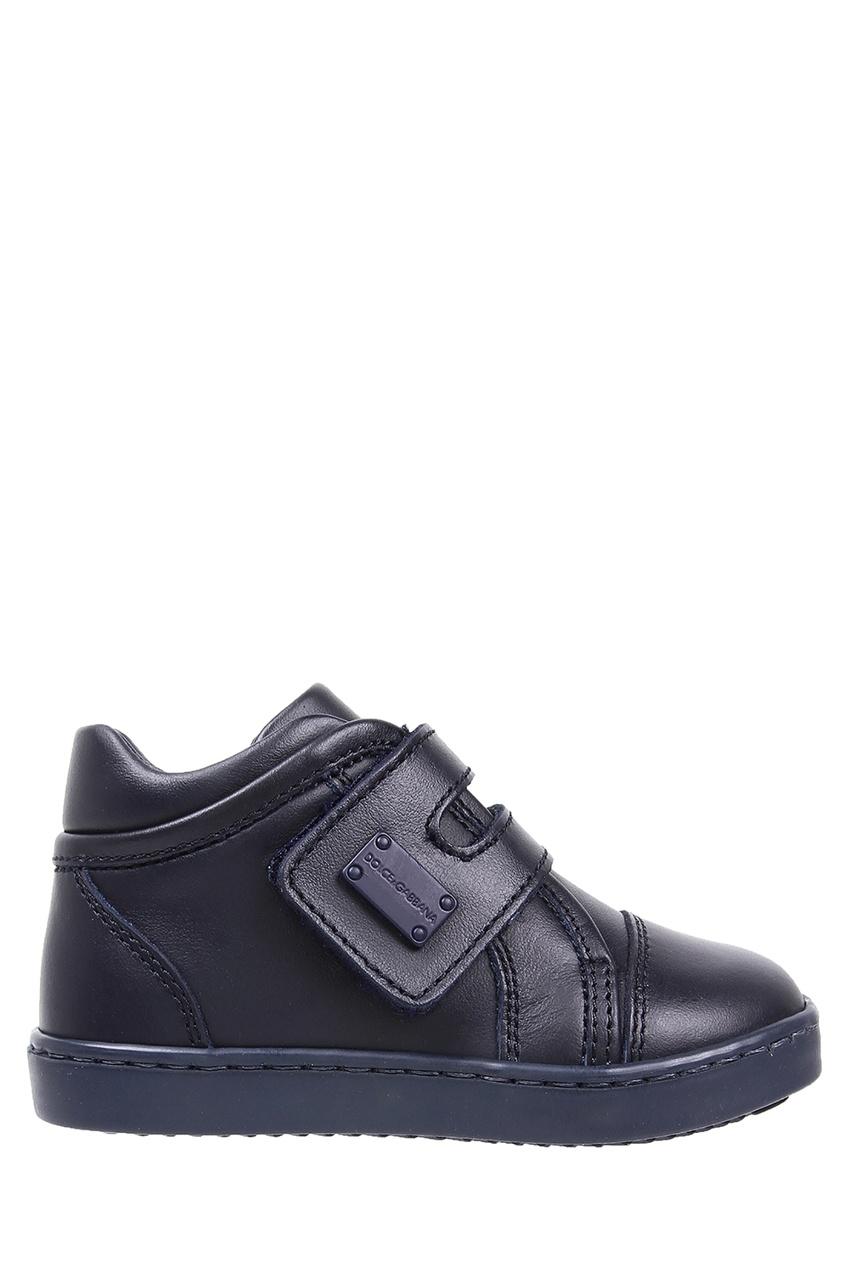 Dolce & Gabbana | синий Синие кожаные ботинки | Clouty