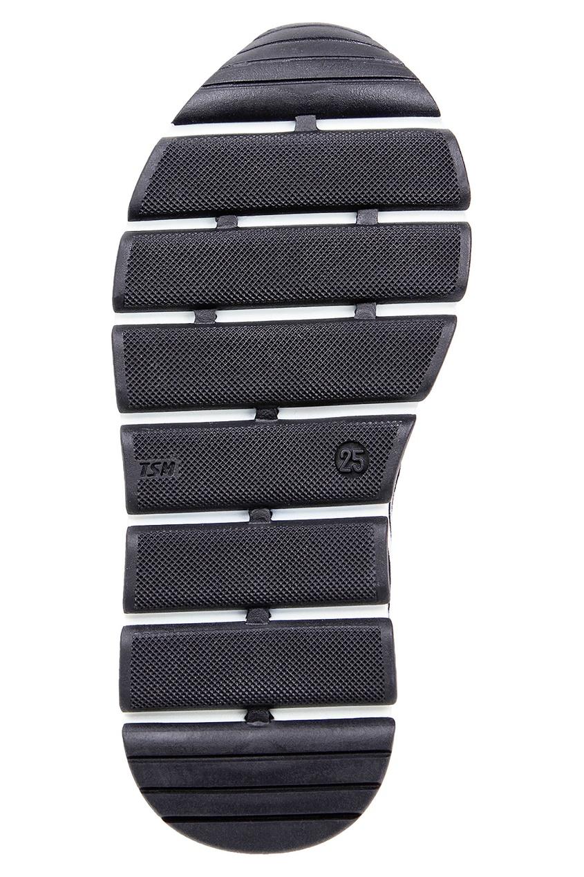 Dolce & Gabbana   черный Текстильные кроссовки с контрастной отделкой   Clouty