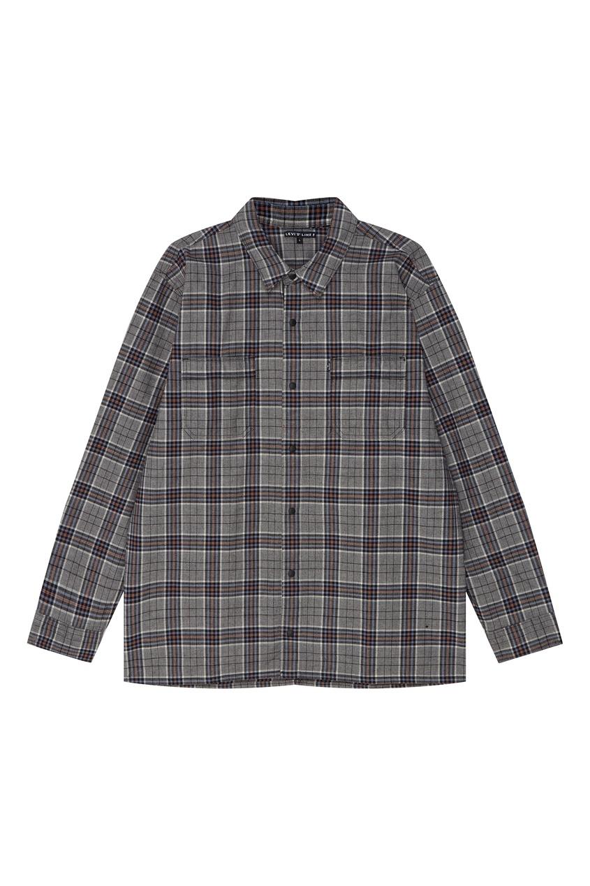 Levi's | серый Серая рубашка в клетку | Clouty