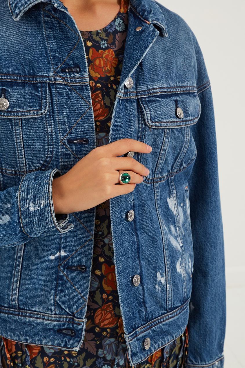 Natalia Bryantseva Jewelry | зеленый Кольцо-леденец L с зеленым кварцем | Clouty