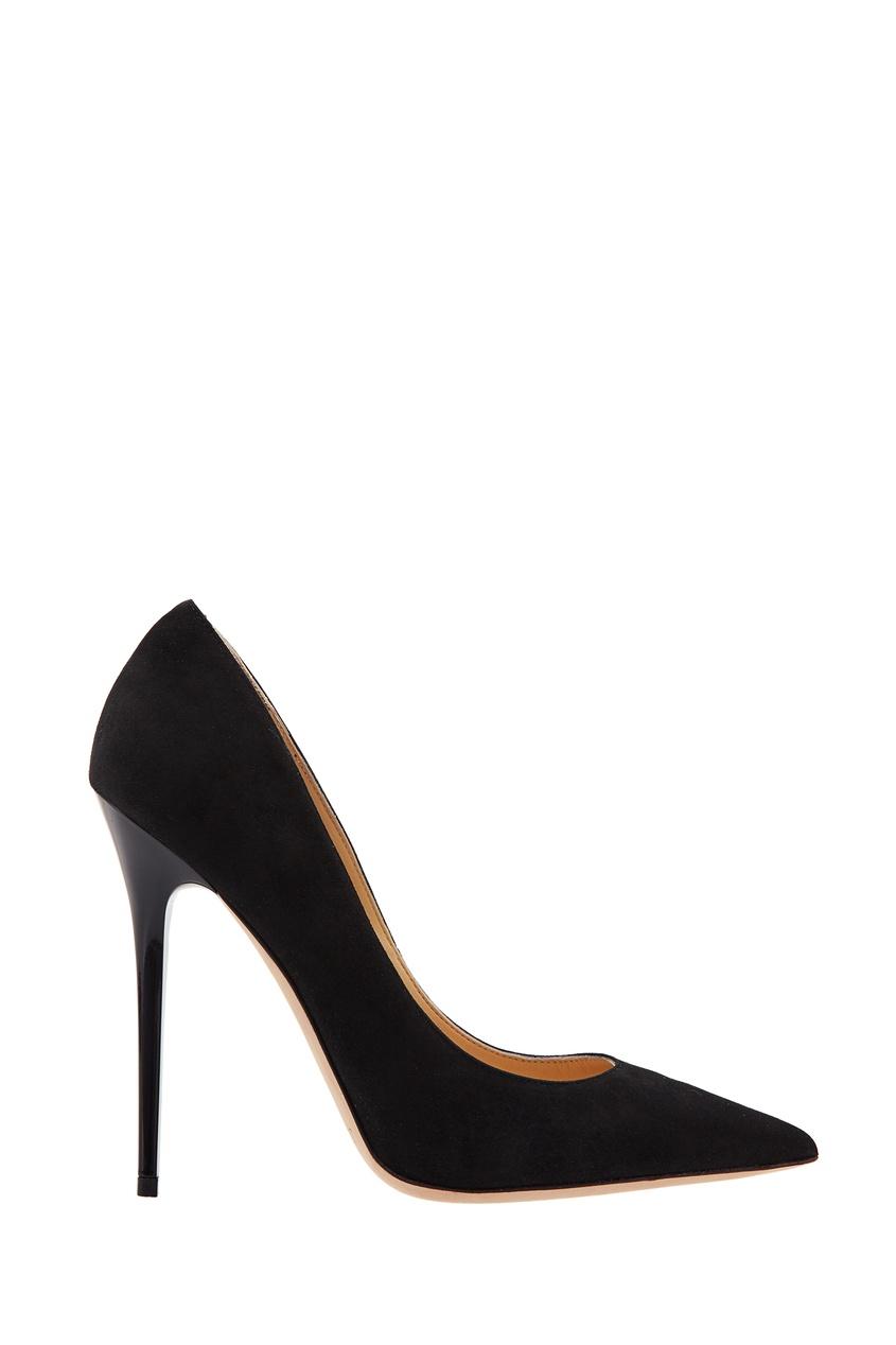 Jimmy Choo   черный Черные замшевые туфли Anouk   Clouty