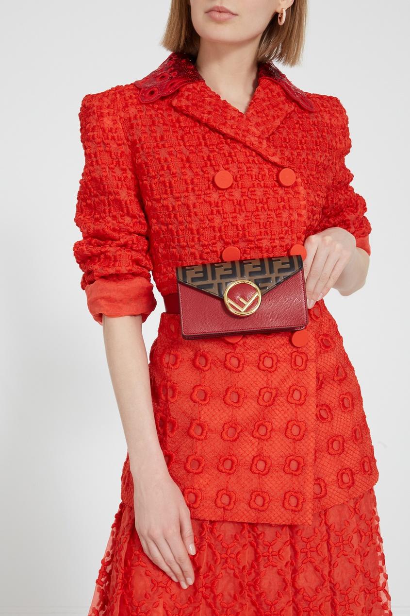 FENDI   красный Компактная поясная сумка с логотипами   Clouty