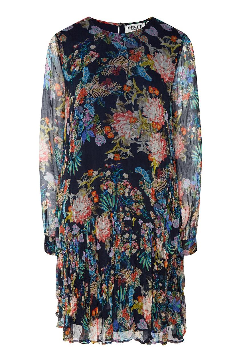 Essentiel Antwerp | Multicolor Короткое платье с цветочным принтом | Clouty