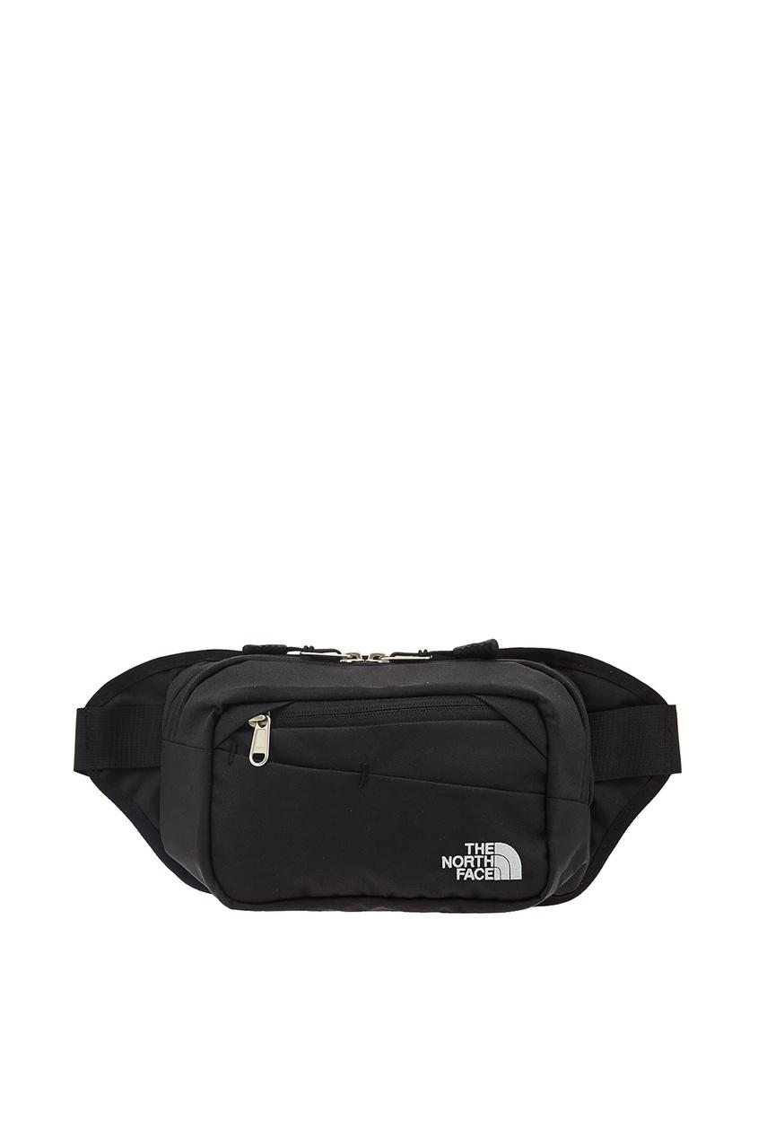 The North Face   черный Черная поясная сумка с белым логотипом   Clouty