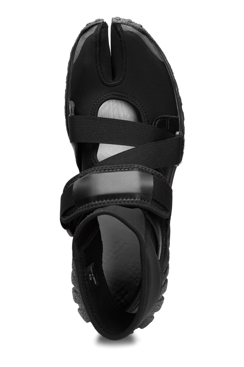 Maison Margiela | черный Черные кроссовки на застежках-липучках | Clouty