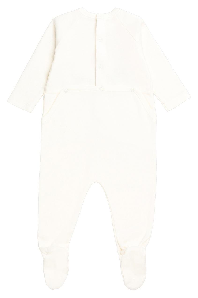 Bonpoint | Белый комбинезон с рисунком | Clouty