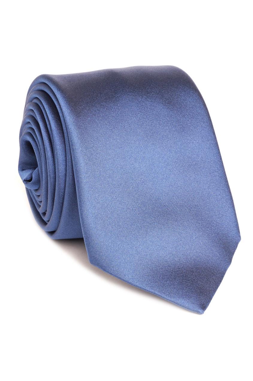 Silvio Fiorello   Синий атласный галстук   Clouty